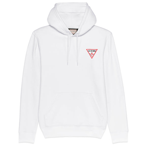 Guess Christian Fleece Hoodie - White