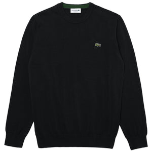 Lacoste Cotton Crew Knit AH1985 - Black
