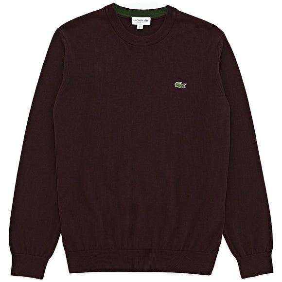 Lacoste Cotton Crew Knit AH1985 - Burgundy