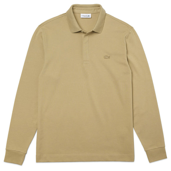Lacoste Long Sleeve Paris Stretch Polo PH2481 - Stone