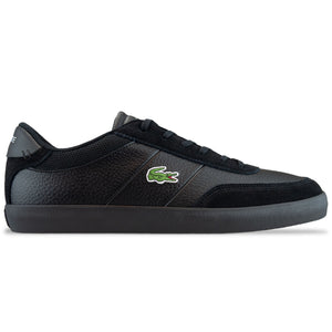 Lacoste Court-Master 120 Leather Trainer - Black