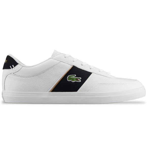 Lacoste Court-Master 319 Leather Trainer - White/Black