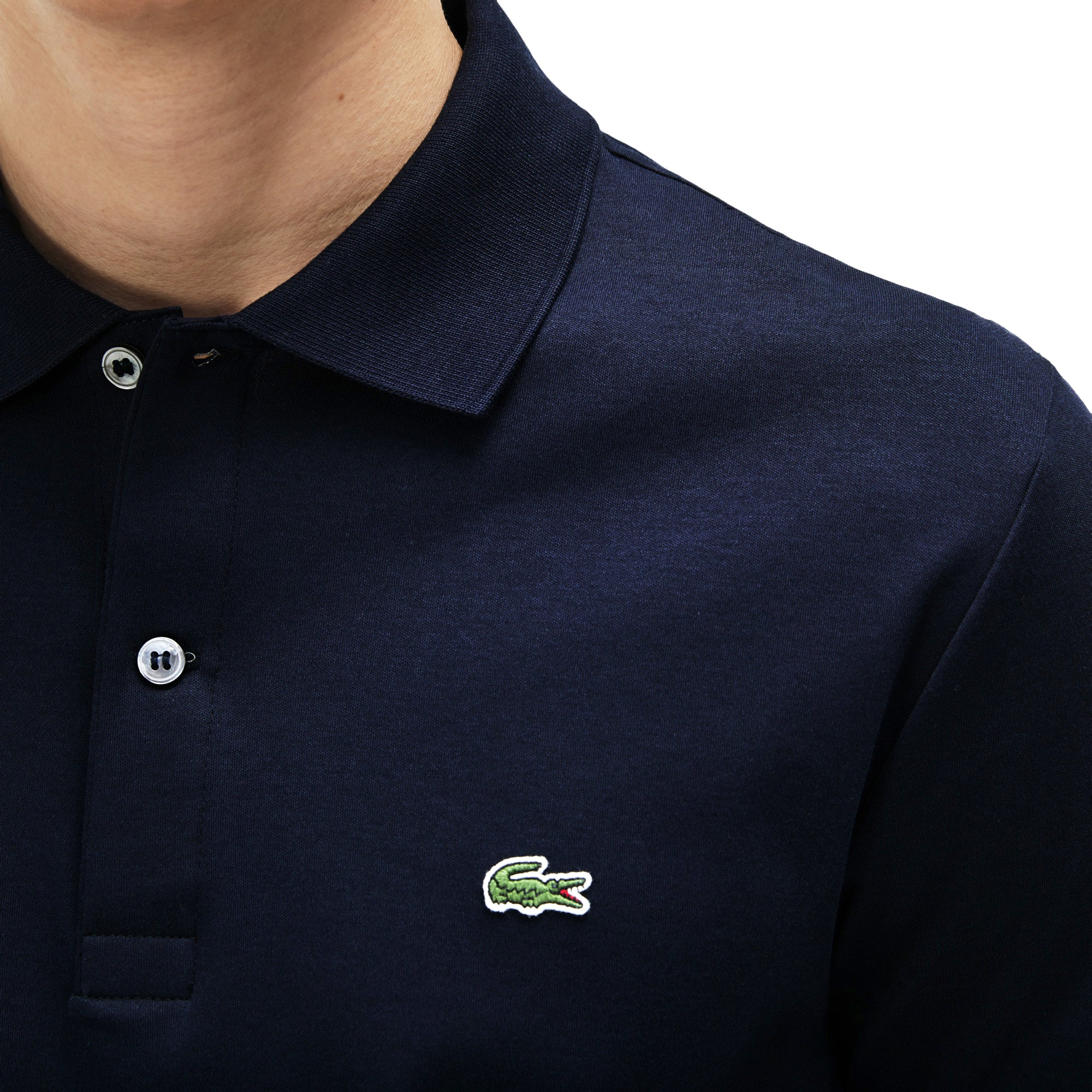 96517375ed85 Lacoste Stretch Jersey DH2050 Polo - Navy – Arena Menswear