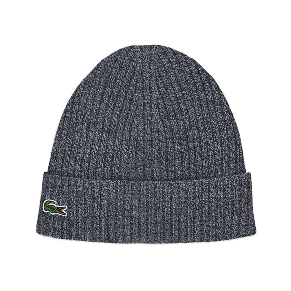 Lacoste RB4162 Ribbed Beanie - Grey