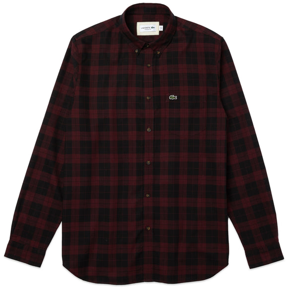 Lacoste Check Shirt CH2565 - Burgundy