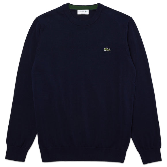 Lacoste Cotton Crew Knit AH1985 - Navy