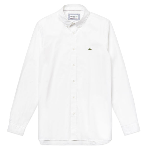 Lacoste Long Sleeve Stretch Poplin Shirt CH7221 - White
