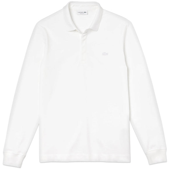 Lacoste Long Sleeve Paris Stretch Polo PH2481 - White