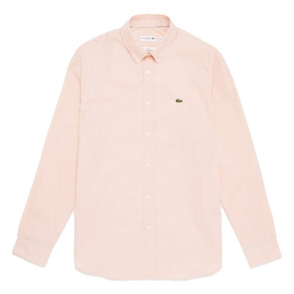 Lacoste Long Sleeve Stretch Poplin Shirt CH7221 - Pink