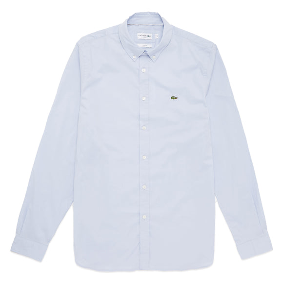 Lacoste Long Sleeve Stretch Poplin Shirt CH7221 - Sky