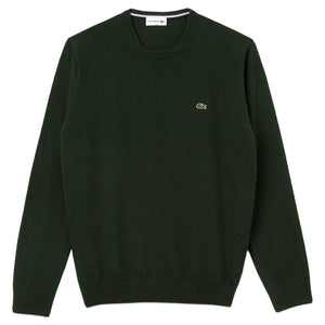 Lacoste AH0841 Wool Crew Knit - Green