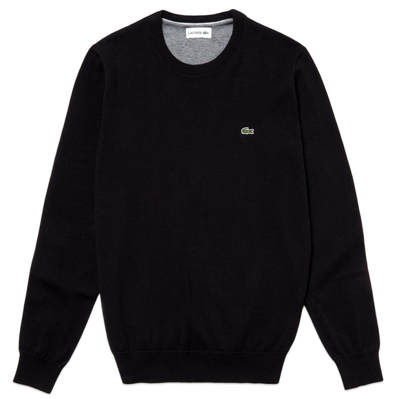 Lacoste Cotton Crew Knit AH3467 - Black