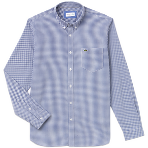 Lacoste Gingham Check Shirt CH0483 - Blue/White