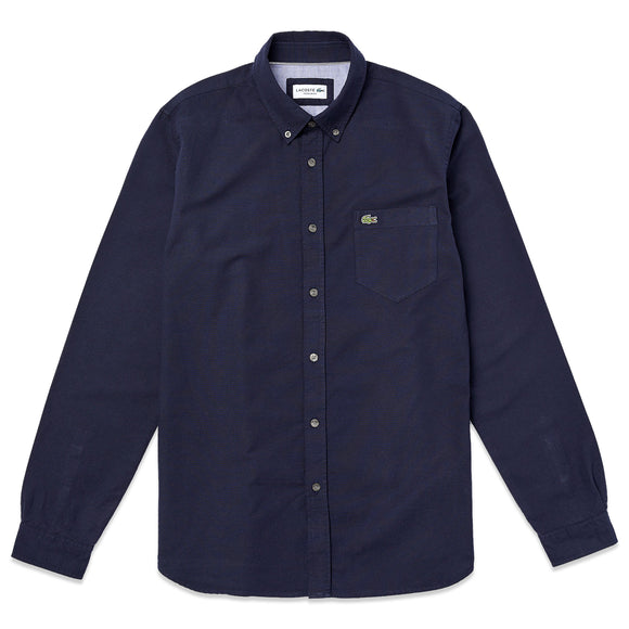 Lacoste Long Sleeve Oxford Shirt CH4976 - Dark Navy