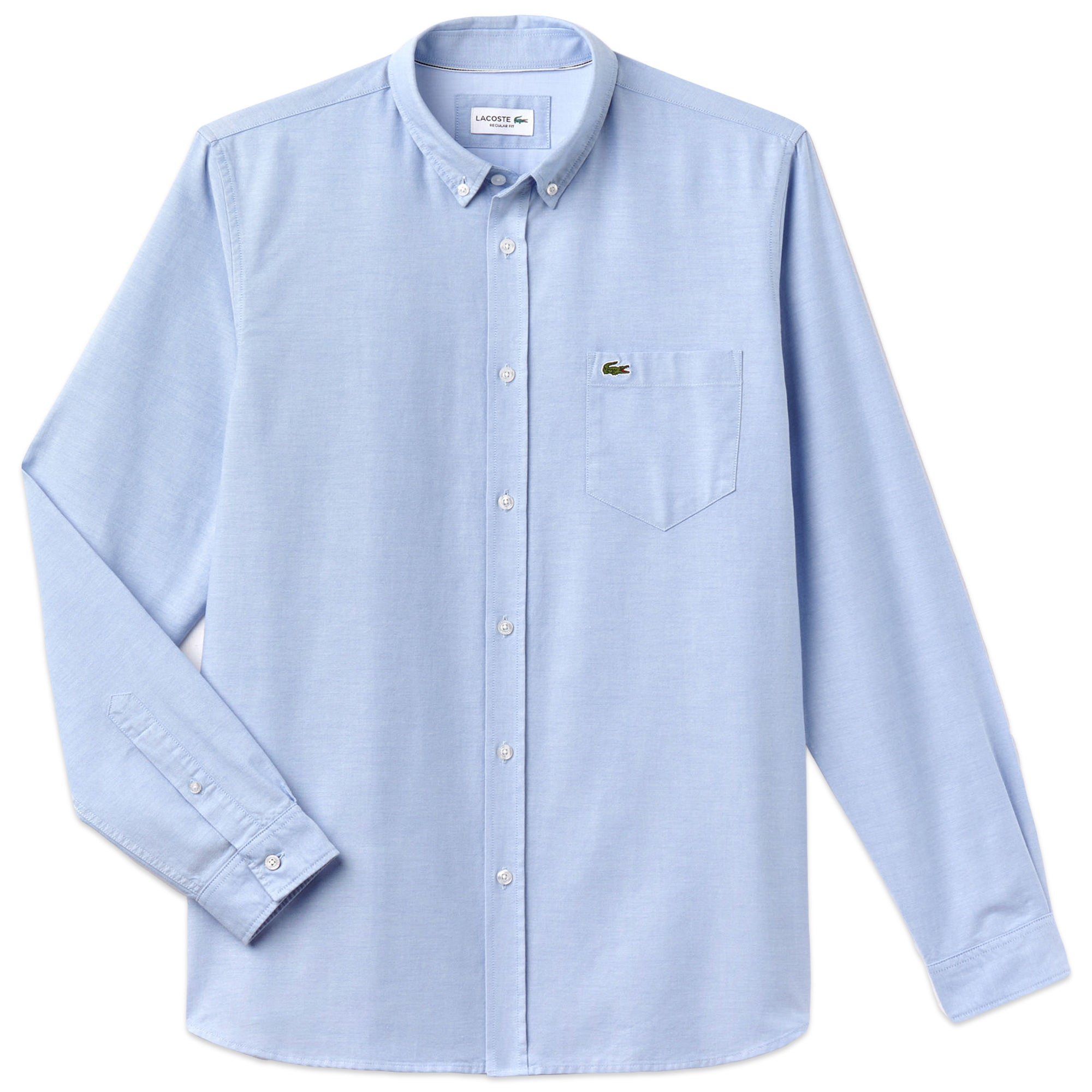 a6006531 Lacoste Long Sleeve Oxford Shirt CH4976 - Sky – Arena Menswear