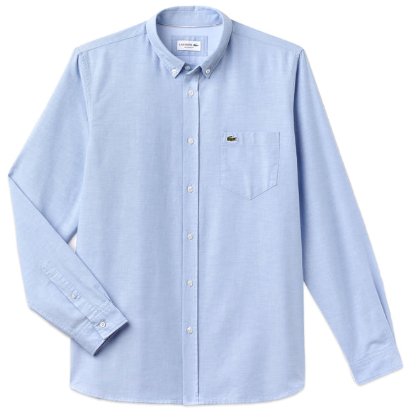 Lacoste Long Sleeve Oxford Shirt CH4976 - Sky