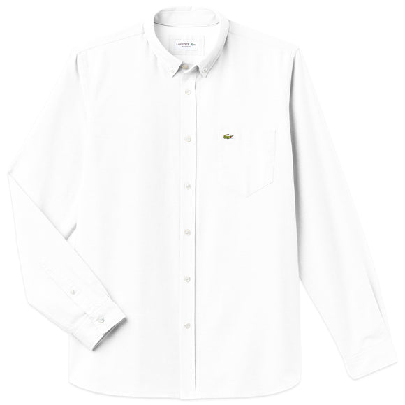 Lacoste Long Sleeve Oxford Shirt CH4976 - White