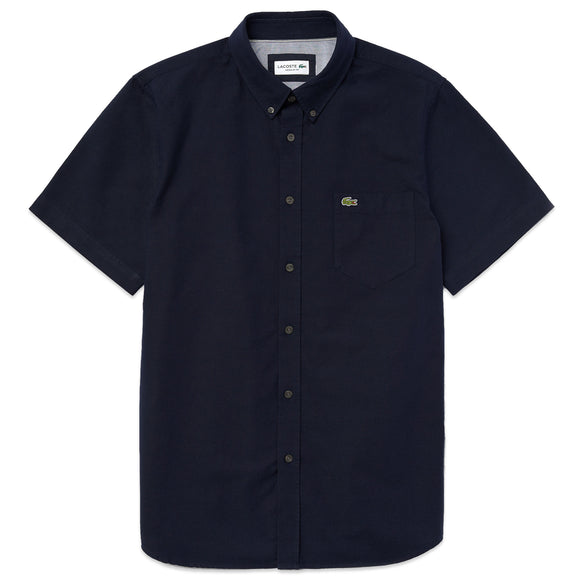 Lacoste Oxford Short Sleeve Shirt CH4975 - Dark Navy