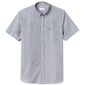 Lacoste Oxford Short Sleeve Shirt CH4975 - Navy