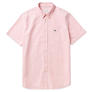 Lacoste Oxford Short Sleeve Shirt CH4975 - Elf Pink