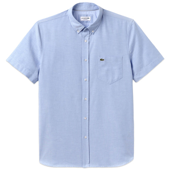 Lacoste Oxford Short Sleeve Shirt CH4975 - Light Blue