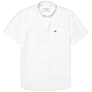 Lacoste Oxford Short Sleeve Shirt CH4975 - White