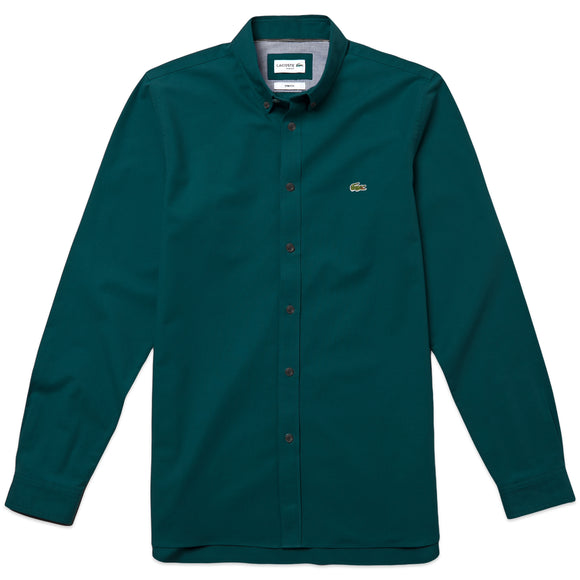 Lacoste Slim Fit Oxford Shirt CH0763 - Teal Blue