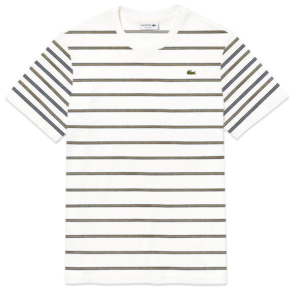 Lacoste Stripe T-Shirt TH8604 - Flour