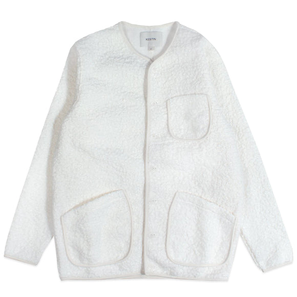 Kestin Neist Zip Through Fleece - Winter White