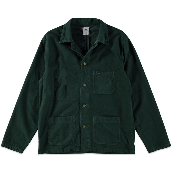 Lois New French Worker Jacket - Bottle Green Moleskin