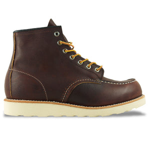 "Red Wing Moc Toe 8138  6"" Leather Boot - Briar Oil Slick (Brown) - Arena Menswear"