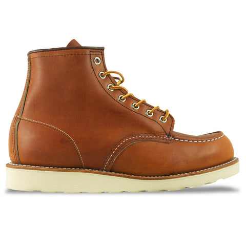 "Red Wing Moc Toe 875 6"" Leather Boot - Oro Legacy (Tan) - Arena Menswear"