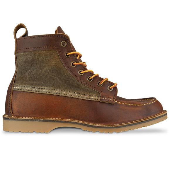 Red Wing 3335 Wacouta Canvas Moc Boot - Copper