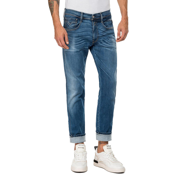 Replay Hyperflex Anbass BIO Edition Slim Fit Jeans - Rich Mid Blue