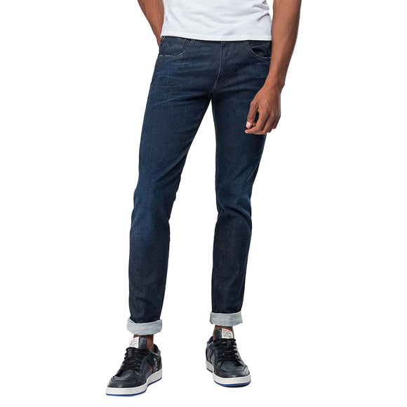 Replay Hyperflex Anbass CLOUDS Edition Slim Fit Jeans - Rinse Dark Blue