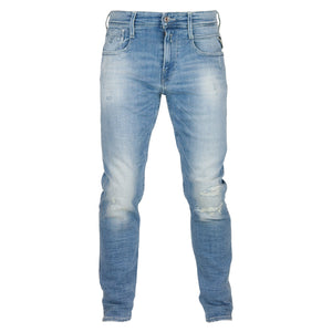 Replay Anbass Slim Jeans - Light Repaired 20 Year Aged