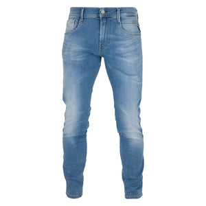 Replay Hyperflex Anbass Laserblast Edition Slim Fit Jeans - Mid Blue