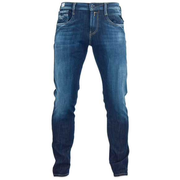 Replay Hyperflex+ Anbass Slim Jeans - Blue Rinse