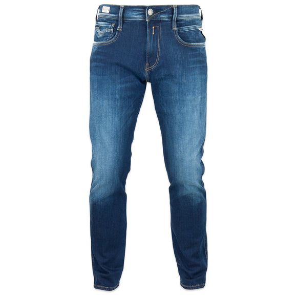 Replay Hyperflex Anbass Surf Blue Edition Slim Fit Jeans - Washed