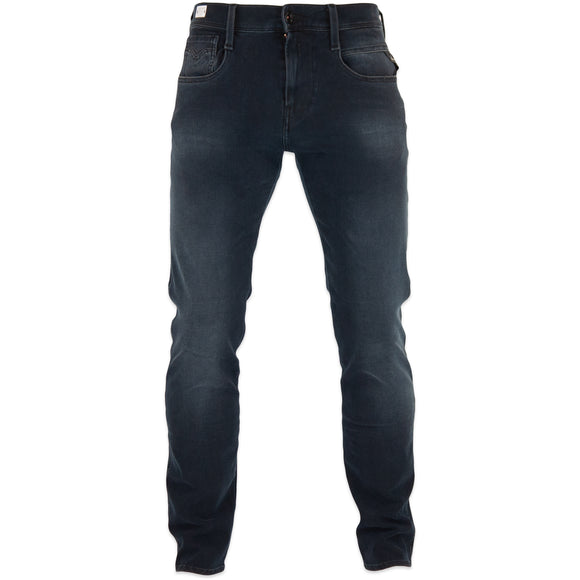 Replay Hyperflex+ Anbass Slim Jeans - Soft Navy