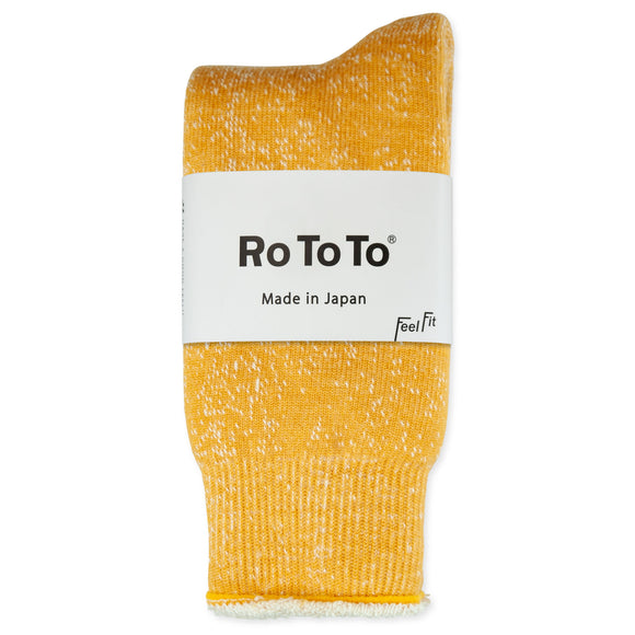 RoToTo Double Face Merino Wool Socks - Yellow