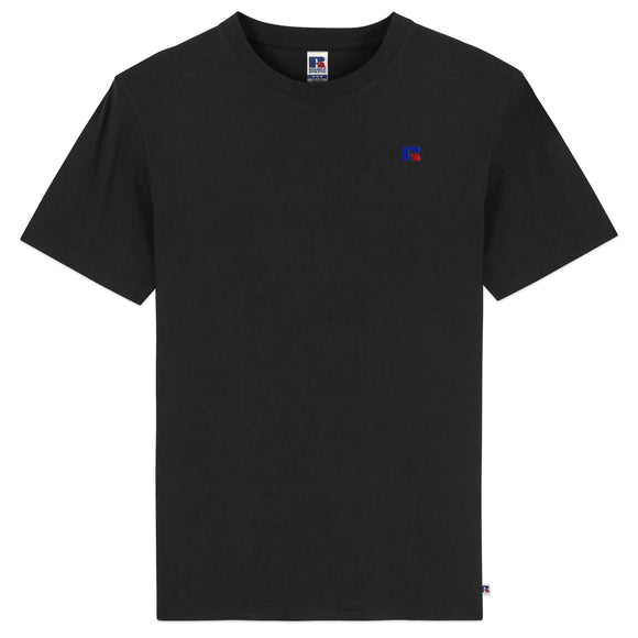 Russell Athletic Baseliner Small Logo Embro T-Shirt - Black