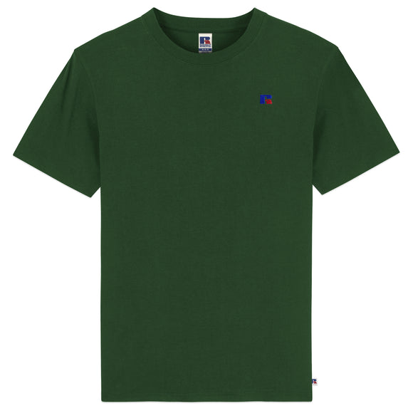 Russell Athletic Baseliner Small Logo Embro T-Shirt - Green