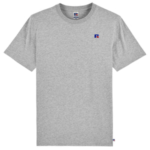 Russell Athletic Baseliner Small Logo Embro T-Shirt - Grey