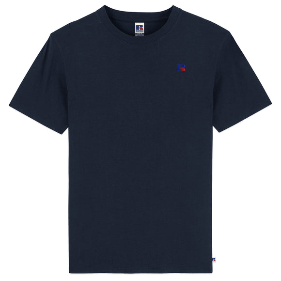 Russell Athletic Baseliner Small Logo Embro T-Shirt - Navy