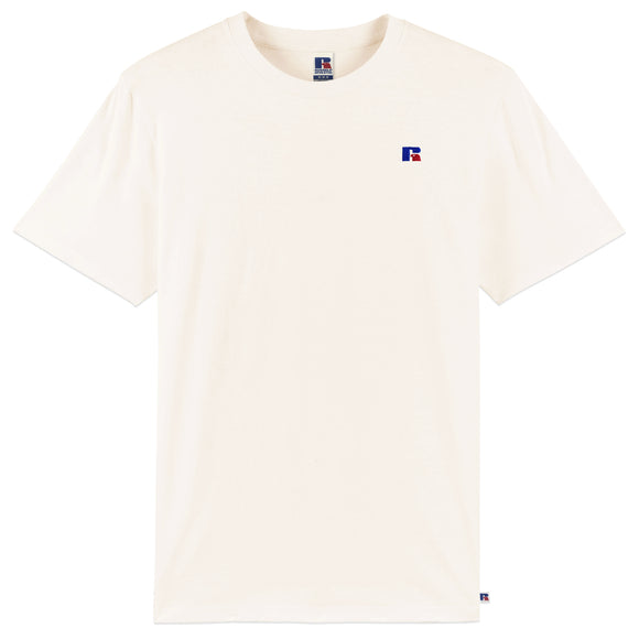 Russell Athletic Baseliner Small Logo Embro T-Shirt - Off White