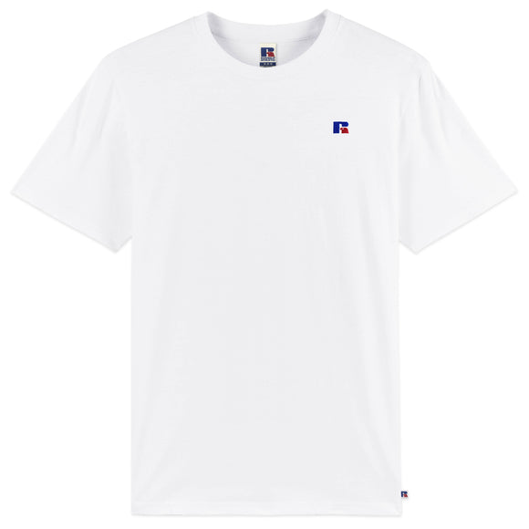 Russell Athletic Baseliner Small Logo Embro T-Shirt - White