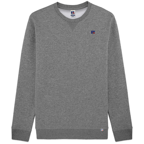 Russell Athletic Frank Small Logo Embro Crew Sweat - Grey