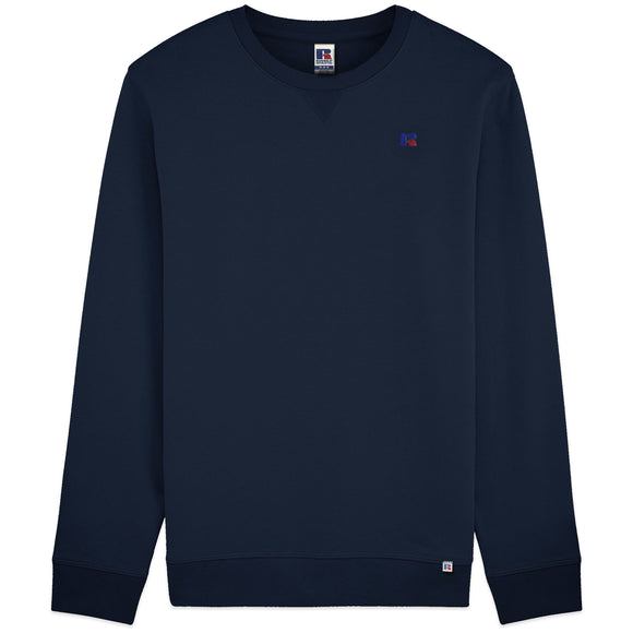 Russell Athletic Frank Small Logo Embro Crew Sweat - Navy