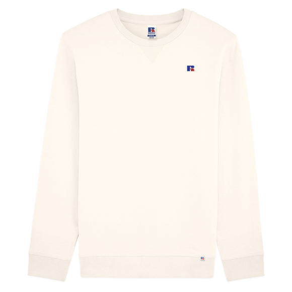 Russell Athletic Frank Small Logo Embro Crew Sweat - Off White